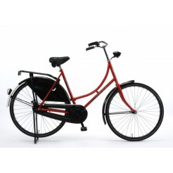 Burgers 28 inch omafiets Rood